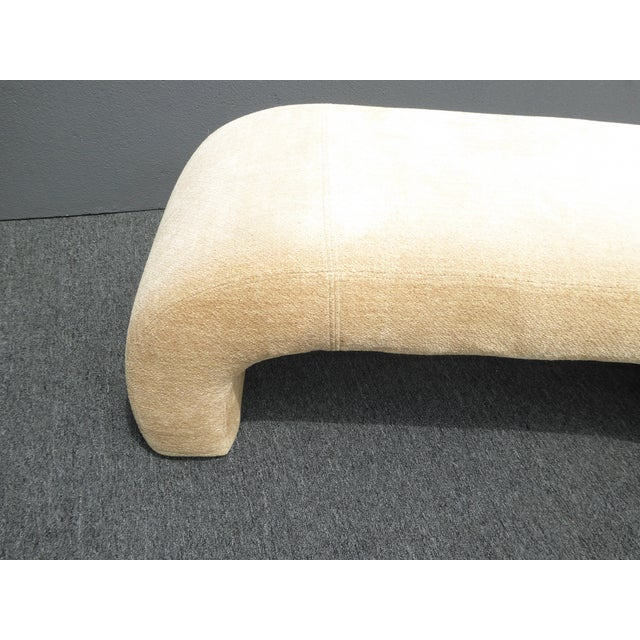 Vintage Contemporary Waterfall Style Bench - Image 6 of 8