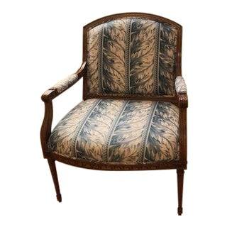 Traditional Classic Upholstered Arm Chair For Sale