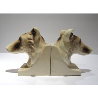 1950s Vintage Ceramic Dog Bookends - A Pair Preview