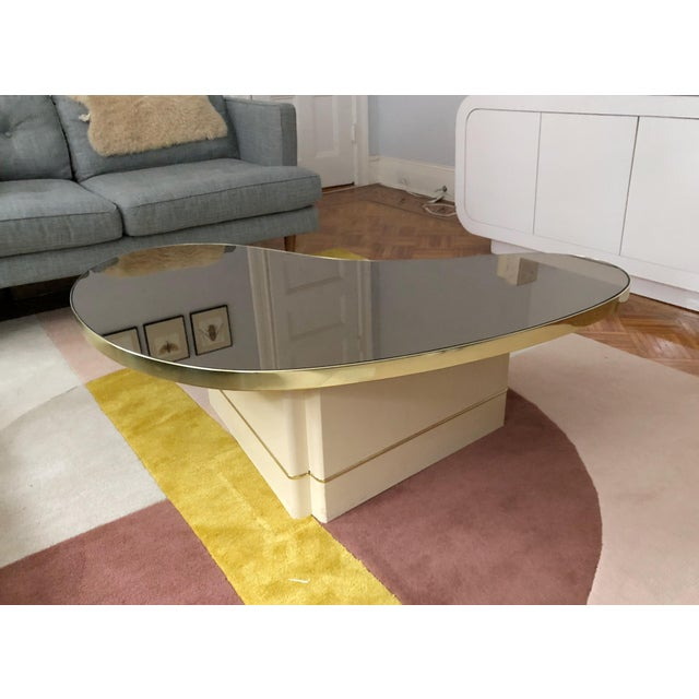 Metal Mid-Century Modern Mirrored Kidney Coffee Table For Sale - Image 7 of 12