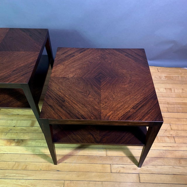 Pair Isaac Teperman Brazilian Rosewood Side Tables, 1950s For Sale - Image 4 of 11