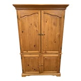 Image of Vintage Pine Computer Armoire For Sale