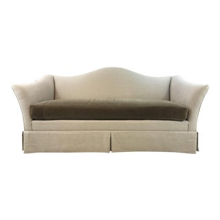 Transitional Hickory Chair Mohair and Linen Christopher Sofa For Sale