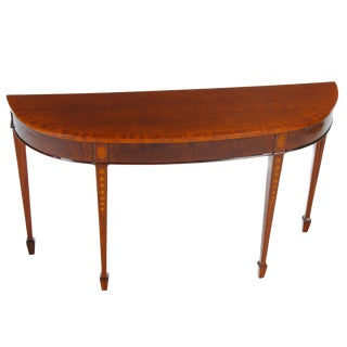 Mahogany Inlaid Console For Sale