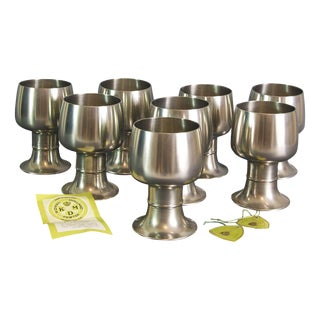 Royal Holland Mid-Century Pewter Wine Hocks