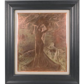 Venus and her Maid Engraving Copper Plaque by Albert Decaris For Sale