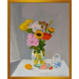 "Image of Small ""Morning Table"" Print by Anne Carrozza Remick, 19"" X 23"" For Sale"