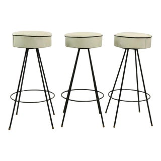 3 Mid Century Stools by Dee After Weinberg For Sale