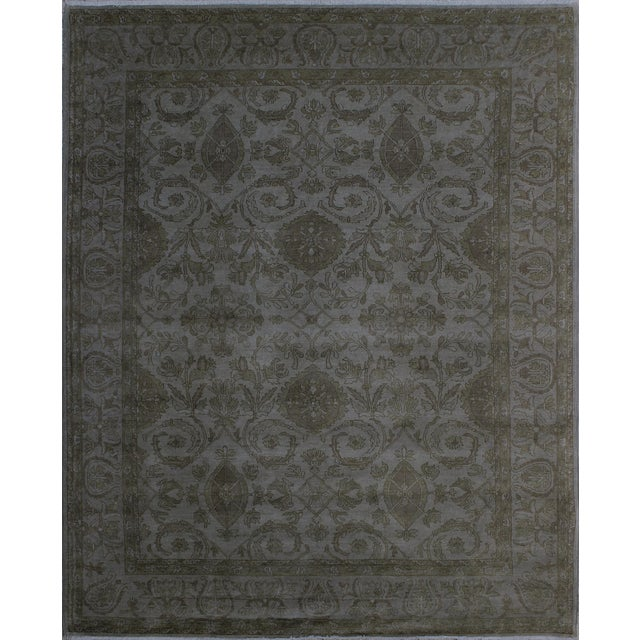 Over Dyed Color Reform Oretha GrayWool Rug - 8'2 X 10'0 A1435 For Sale