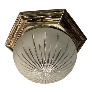 1940s Nickel Plated Light Fixture For Sale