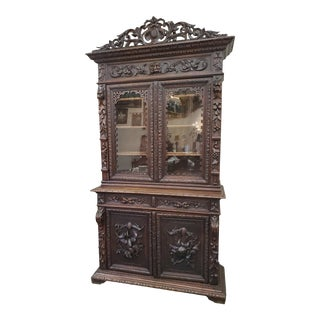 Antique Hunters Cabinet For Sale