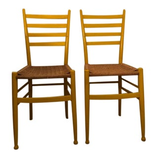 Gio Ponti Yellow Chairs - A Pair