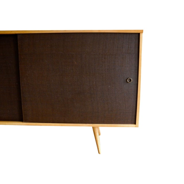 20th Century Modern Maple Storage Credenza / Sideboard With Shelf and Drawers by Paul McCobb For Sale - Image 10 of 13
