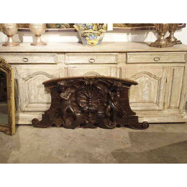18th Century 18th Century Carved Wooden Overdoor From France For Sale - Image 5 of 13