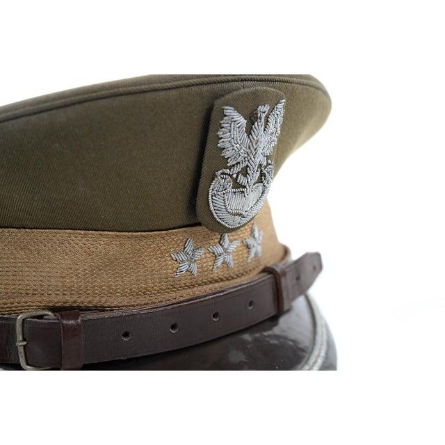 Vintage Polish 3 Stars Military Officer Hat - Image 8 of 9