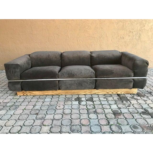 Art Deco Restored Craft Associates Chrome Sofa For Sale - Image 3 of 9