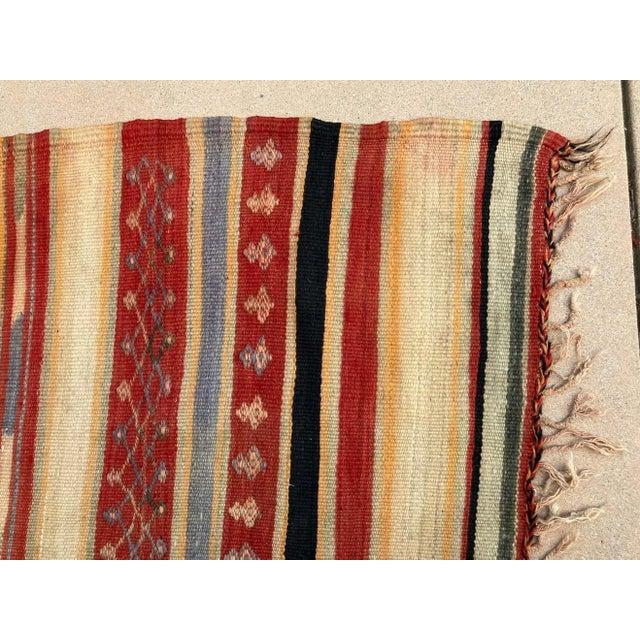 Brown Vintage Moroccan Tribal Kilim Rug, circa 1960 For Sale - Image 8 of 13