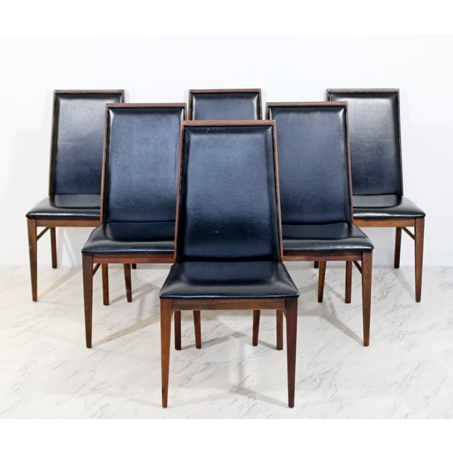 Mid-Century Modern Mid Century Modern Milo Baughman Directional Dining Table Dillinghman 6 Chairs For Sale - Image 3 of 12