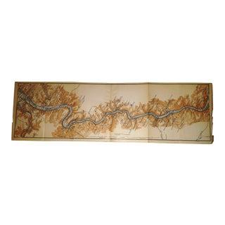 1892 Rhein River in Germany Rhine River Map
