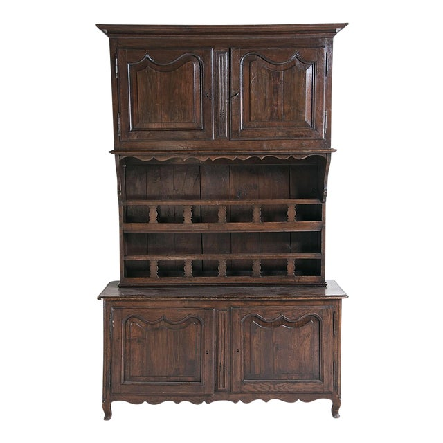 Late 19th Century Large French Three Part Oak Cabinet For Sale