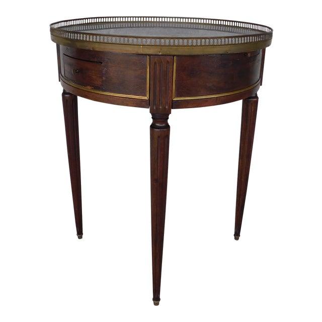 "Antique Louis XVI Style Marble Top Bouillotte Table 24.5""w For Sale"
