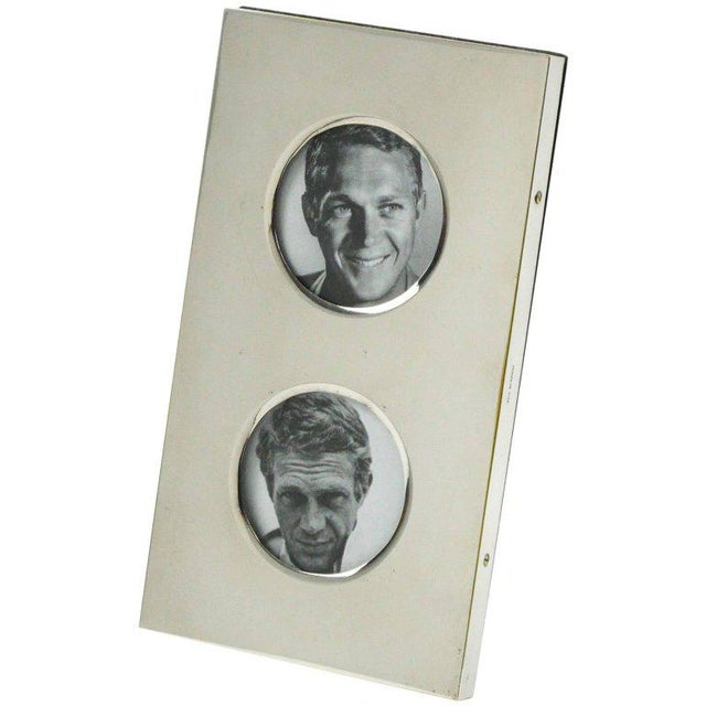 Christian Dior Paris Modernist Silver Plate Picture Photo Frame - Image 7 of 7
