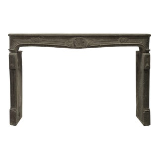 Large 18th Century French Louis XV Fireplace Mantel in Lava Stone For Sale