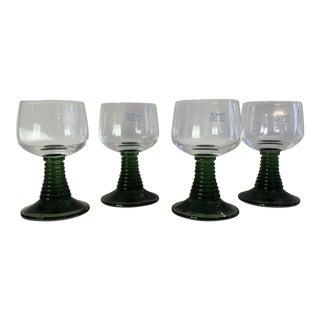 Schott Zwiesel Green Emerald Green Shot Glasses - Set of 4 For Sale