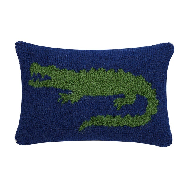 """Contemporary Alligator Hook Pillow, 8"""" x 12"""" For Sale - Image 3 of 3"""