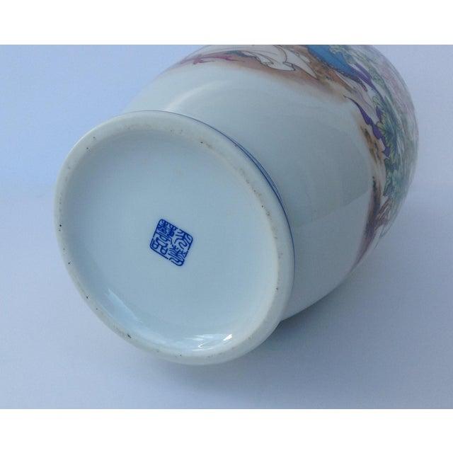 Vintage Japanese Porcelain Kutani Ceremonial Greek Key Vessel, Vase For Sale - Image 10 of 11