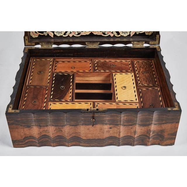 1882 King Ebony Inlaid Presentation Box For Sale - Image 10 of 11