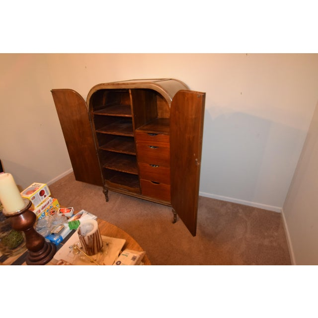 1920s 1920s Art Deco Style Hand Painted Armoire For Sale - Image 5 of 6
