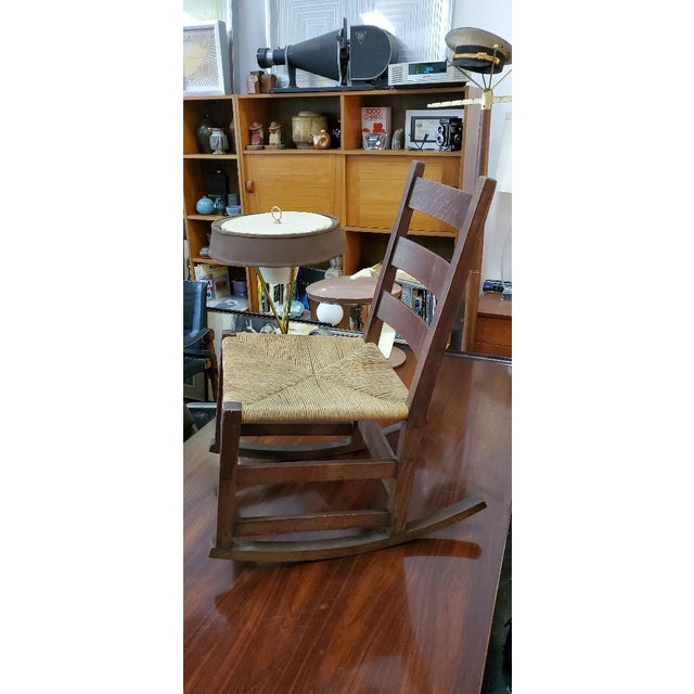Wood Gustav Stickely Early Arts & Crafts Mission Oak Youth Rocker Chair For Sale - Image 7 of 13