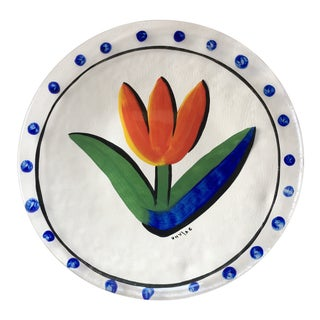 Contemporary Scandinavian Kosta Boda Tulipa Platter For Sale