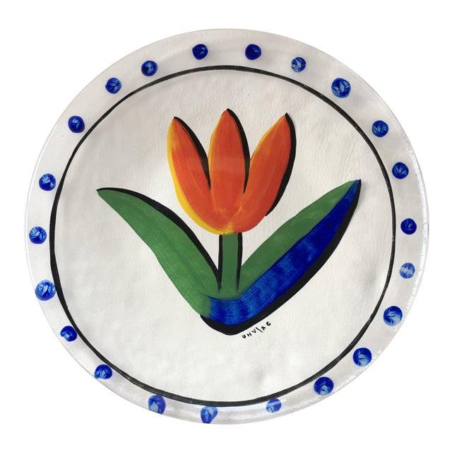 Contemporary Scandinavian Kosta Boda Tulipa Platter For Sale