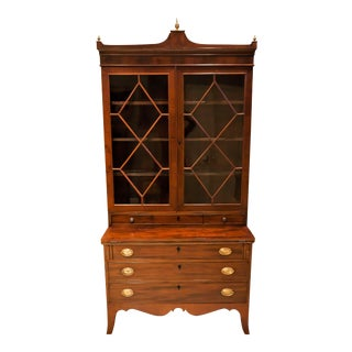 Federal Hepplewhite Secretary Bookcase, Circa: 1800, Mid-Atlantic For Sale