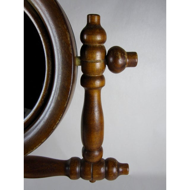19th-C. French Gentleman's Barber Shop Shaving Mirror Stand - Image 7 of 8