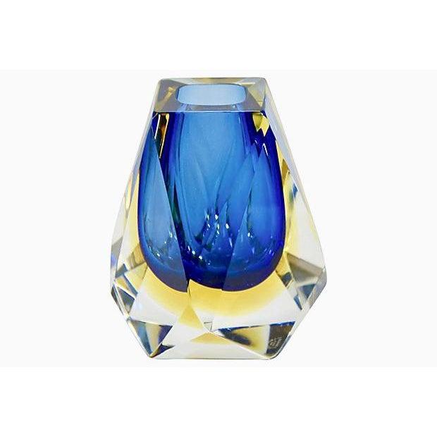 Blue Murano Art Glass Vase, Signed Mandruzzato For Sale In Chicago - Image 6 of 6