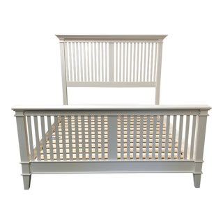 Cottage Style Queen Bed by Crate & Barrel For Sale