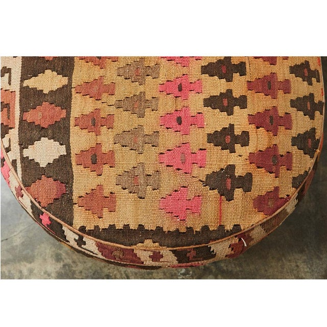 English Kilim Ottoman For Sale - Image 4 of 6
