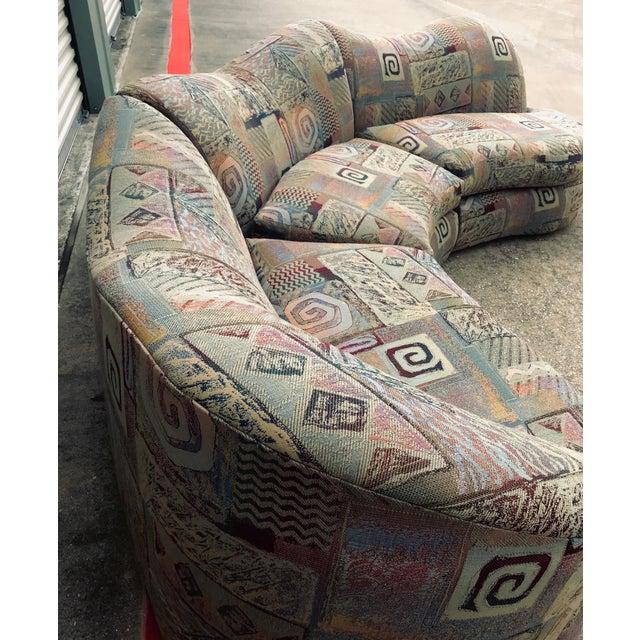 1990s Vintage Basset Curvy Sculptural Serpentine 3 Piece Sofa For Sale In Dallas - Image 6 of 12