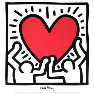 Keith Haring, Untitled (1988), Offset Lithograph For Sale