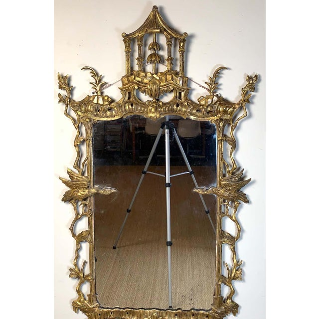 Chinese George II Chinese Chippendale Wall Mirror For Sale - Image 3 of 13
