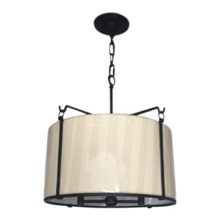 Visual Comfort Aspen Large Hanging Shade Pendant Light For Sale