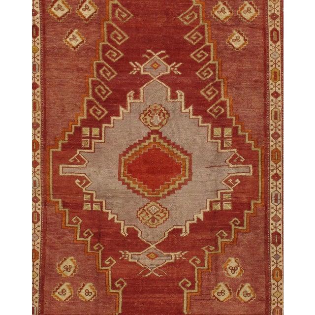 Traditional Vintage Turkish Kars Rug Carpet, 4'4 X 5'6 For Sale - Image 3 of 4