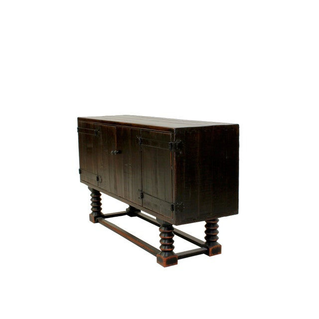 Sarreid LTD Zimmerman Style Ebonized Sideboard - Image 3 of 5