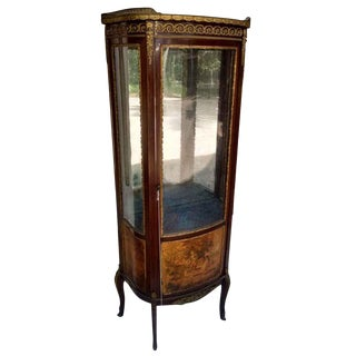 French Victorian Wooded Scenic Cabinet For Sale