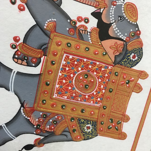 Hand Painted Elephant From Jaipur - Image 5 of 6