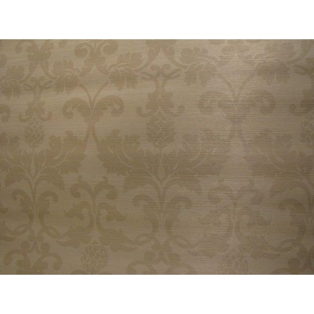 """Schumacher Grasscloth """"Beau Damasse"""" Wallpaper - Image 1 of 2"""