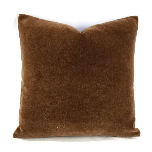 Mohair Mohair Velvet Dark Brown Pillow Cover For Sale - Image 7 of 7